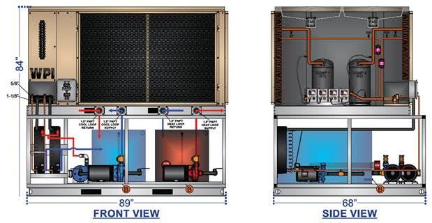 Standard Chiller-Heater Units Currently in Design & Engineering